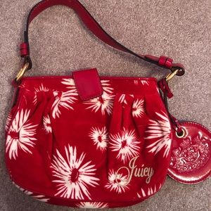 Juicy Couture poinsettia purse